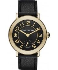 Marc Jacobs MJ1471 Dámy Riley černý kožený řemínek hodinky