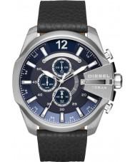 Diesel DZ4423 Pánská mega šéf černá kůže chronograf hodinky