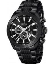 Festina F16889-1 Pánská prestiž černá ocel chronograf hodinky