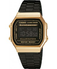 Casio A168WEGB-1BEF kolekce pánské černá ocel náramek hodinky