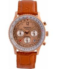 Krug-Baumen 400704DS Air cestovatel diamant oranžový kožený řemínek hodinky
