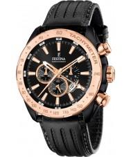 Festina F16899-1 Pánská prestiž černá kůže chronograf hodinky