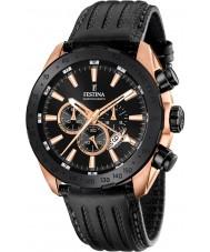 Festina F16900-1 Pánská prestiž černá kůže chronograf hodinky