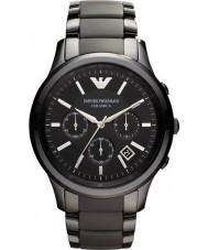 Emporio Armani AR1452 Pánská keramický černý chronograf hodinky