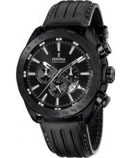 Festina F16902-1 Pánská prestiž černá kůže chronograf hodinky