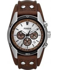 Fossil CH2565 Pánská kočí hnědá kůže chronograf hodinky