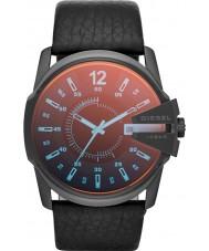 Diesel DZ1657 Pánská Master Chief černý kožený řemínek hodinky