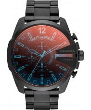 Diesel DZ4318 Pánská mega šéf černá ip chronograf hodinky