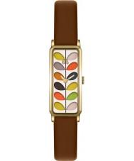 Orla Kiely OK2104 Dámy kmenové tisku tan kožený řemínek hodinky