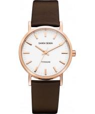 Danish Design Q17Q199 Pánská hnědý kožený pásek na hodinky