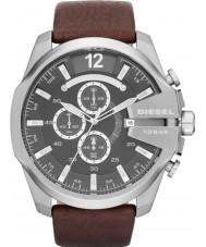 Diesel DZ4290 Pánská mega šéf černá hnědá chronograf hodinky