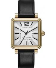 Marc Jacobs MJ1437 Dámy vic černý kožený řemínek hodinky