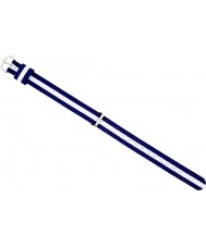 Daniel Wellington DW00200074 Dámy nóbl Glasgow 21,5 mm stříbrná bílé a tmavě modré nylon rezervní popruh