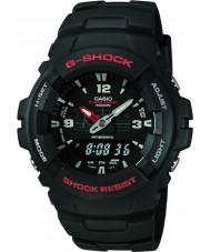 Casio G-100-1BVMUR Pánská g-shock kombinace displej hodinky