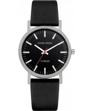 Danish Design Q13Q199 Pánská černá kožený pásek na hodinky