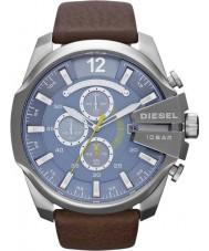 Diesel DZ4281 Pánská mega šéf modrá hnědá chronograf hodinky