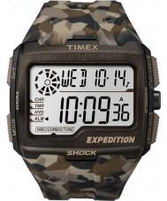 Timex TW4B07300 Pánská mřížka šok hnědé pryskyřice popruh hodinky