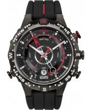Timex T2N720 Pánská celý černý příliv temp kompas hodinky