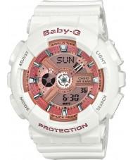 Casio BA-110-7A1ER Dámy baby-g time world bílá pryskyřice popruh hodinky