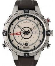 Timex T2N721 Pánská přírodní hnědá příliv tepl kompas hodinky
