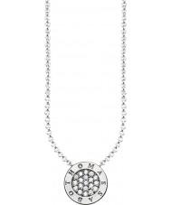 Thomas Sabo KE1493-051-14-L45v Dámy stříbrný podpis klasický zirkon Pave náhrdelník