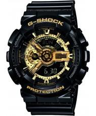 Casio GA-110GB-1AER Pánská g-shock černá pryskyřice světový čas combi hodinky