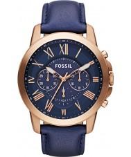 Fossil FS4835 Pánská udělit námořnictvo kůže chronograf hodinky