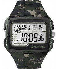 Timex TW4B02900 Pánská expedice digitální šok khaki kamufláž chrono hodinky