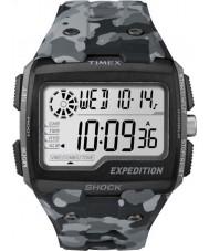 Timex TW4B03000 Pánská expedice digitální šok šedá kamufláž chrono hodinky