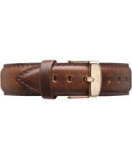 Daniel Wellington DW00200083 Dapper 19mm st Mawes růžové zlato rezervní popruh